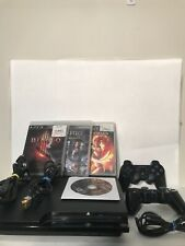 Sony PlayStation 3 PS3 Slim 120GB Console Bundle 2 Controller 4 Games CECH-2001A