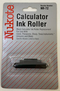 NEW NuKote Calculator Ink Roller #NR-72 for Casio, Panasonic, Sharp, Texas Instr