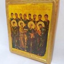 Synaxis of The Twelve Apostles ICXCNIKA Byzantine Orthodox Rare Icon Art
