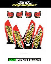 PRO CIRCUIT REPLACEMENT T-6 EXHAUST STICKER DECAL KIT T6 HONDA CRF250 CRF450