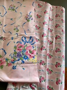 6 Yards Daisy Kingdom Ballet Rose on Pink + Sm Pc Border Print