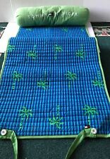 Beach Mat Tommy Hilfiger, Blue And Green Palm Trees