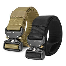 Tactical Rigger Belt Nylon Adjustable Quick Release Buckle Military Casual Belt