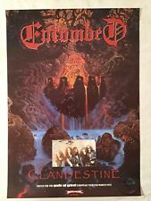 Entombed 1992 Promo Poster Clandestine Death Metal Music