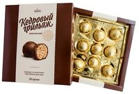 Chocolate covered sweets with siberian pine nuts 120 gr Candy Кедровый грильяж