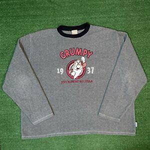 Vintage Disney Store Snow White Grumpy Just Blowing Off Steam Sweatshirt - XXL