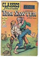 CLASSICS ILLUSTRATED 50 (1948) Tom Sawyer; ORIGINAL; HRN 51; VG- 3.5