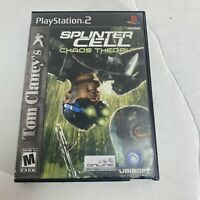 Tom Clancy's Splinter Cell Chaos Theory - Playstation 2 PS2 Game Free Shipping
