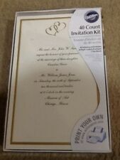 WILTON PRINT YOUR OWN WEDDING INVITATIONS 40 COUNT FREE SHIPPING