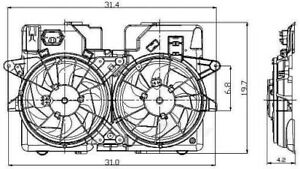 Engine Cooling Fan Assembly Global 2811524