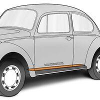 "1952-1977 VW Beetle Heater Channel Patch LH Bottom Metal Panel 65.5"" x 3"" 314008"