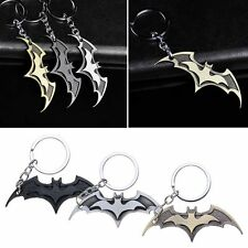 Super Hero Dark Knight Batman Bat Metal Ring Keychain Keyfob Pendant Key Chain