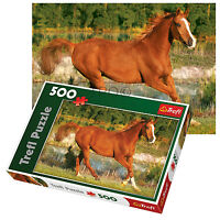 Trefl 500 Piece Adult Large Floor Horse Beauty Field Gallop Jigsaw Puzzle NEW