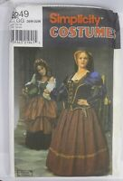 Simplicity Sewing Pattern 8249 Renaissance Medieval Gown Costume Size 26W-28W