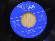 Jerry Wallace 45 Eyes Of Fire Lips OF Wine / Monkey See Monkey Do   Wing VG+