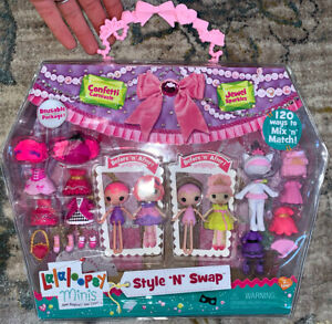 NEW Lalaloopsy Minis Style N Swap Confetti Carnivale Jewel Sparkles New Rare