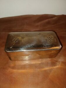 Ancien nécessaire de rasage de voyage en boîte, rasoir mécanique,blaireau,etc...