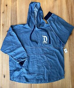 2020 Disney Disneyland Blue Denim Hoodie Spirit Jersey Adult Large NWT