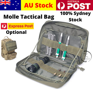Military Tactical Outdoor MOLLE Hunting Camping Tool Knife Pouch Backpack Bag AU