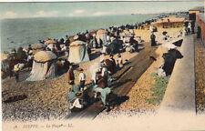 DIEPPE 56 LL la plage timbrée 1907