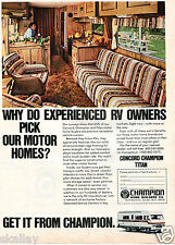 1979 Print Ad of Concord Champion Titan RV Motor Home