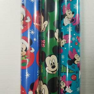 Wrapping Paper Roll Christmas 40 Sq Ft Disney Mickey Mouse Minnie Mouse Pluto