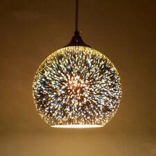 Hanging 3D Colored Glass Ceiling Lights Pendant Lamp Chandelier Bar Porch Decor