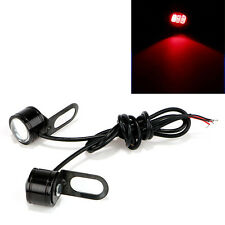 2x Motorcycle Mirror Mount LED Constant Bright Eagle Eye DRL Tail Light Lamp Red