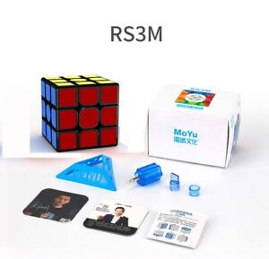 2020 MoYu RS3M Magnetic 3x3 Speed Magic Cube Professional Puzzle Kids Toy Black