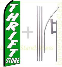 THRIFT STORE Swooper Feather Flag 15' Kit Flutter Banner Sign - gq