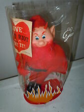 VINTAGE GUND GUNDERFUL VALENTINE DOLL STUFFED ANIMAL DEVIL SATAN TOY OLD UNUSUAL