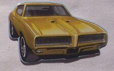 Pontiac GTO USA Magnet Schild gestanzt aus Metall