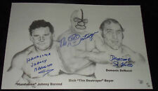 Wrestling signed auto picture poster litho Coa The Destroyer Doctor X Dick Beyer