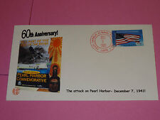 WWII FDC Hawaii * Pearl Harbor Attack 60th Anniversary * December 7, 1941 - 2001