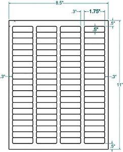 1.75 x 0.5 Address Inkjet Laser Labels (80000):340053