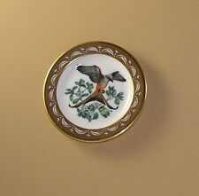 State Birds and Flowers Miniature Mini Plate Oklahoma Flycatcher Mistletoe