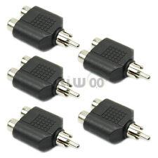 5 RCA AV Audio Splitter Adapter 1 Male to 2 Female