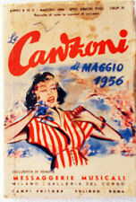 Le CANZONI di Maggio 1956/5 Messaggerie Musicali-design Roveroni-Testi e foto