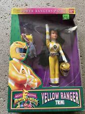 "Mighty Morphin Power Rangers Yellow Ranger Trini Doll - 9"" BANDAI 1994"