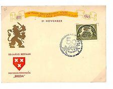 """L92 1943 Breda, Netherlands/' 50-jarig bestaan. postzegelvereniging BREDA"""""""