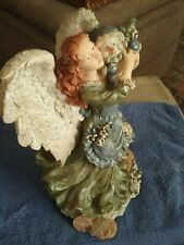 """9"""" Resin Angel Wings Christmas Angel Snowman/baby  Decor Tabletop Centerpiece"""