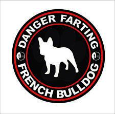 Danger Farting French Bulldog Sticker Decal Vinyl Car Body Decor Waterproof