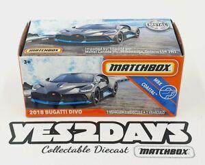 2020 Matchbox Powergrabs : 2018 Bugatti Divo :GNK54 Coastal 46/100 : New Release