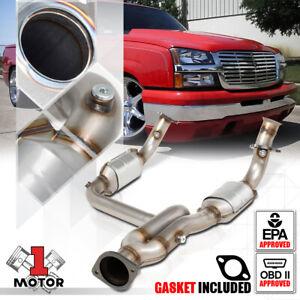 Exhaust Y-Pipe Catalytic Converter for 99-06 Silverado/Sierra/Yukon 4.3/4.8/5.3
