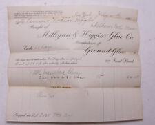 1900 Lamson Goodnow Milligan Higgins Glue Co NYC Handwritten Ephemera L903H