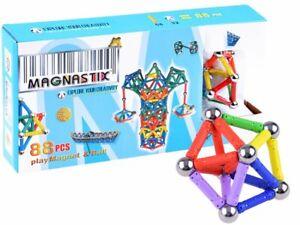 Magnetbaukasten Magnetspielzeug Kinder Magnet Formenspiel Baukasten 88 tlg JO