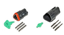 Deutsch DT 3 Pin Black Connector Kit 16-20 GA Solid Contacts