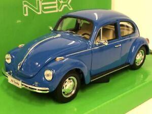 1959 Volkswagen Beetle Blue 1:24 27 Scale Welly 22436B