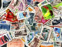 France commémoratifs grands formats 1000 timbres différents oblitérés