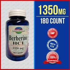 Berberine HCI 1350mg Per Serving Size 180 Caps Depression,Cholesterol,Heart USA